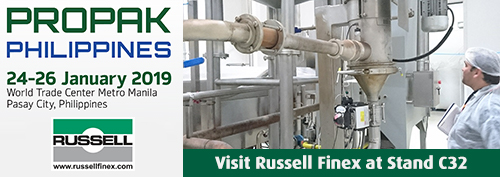 Russell Finex separation equipment at ProPak Philippines 2019.