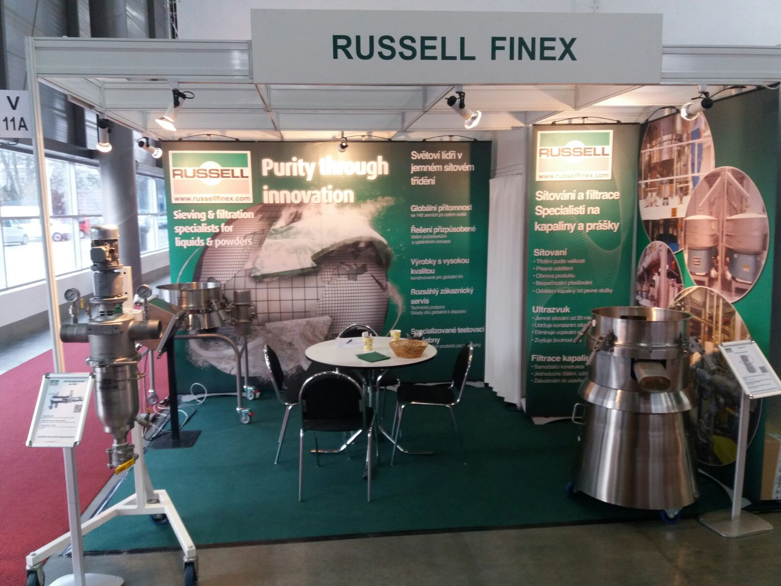 Russell Finex participated at Salima 2018 in BRNO in Hall V Stand 011A