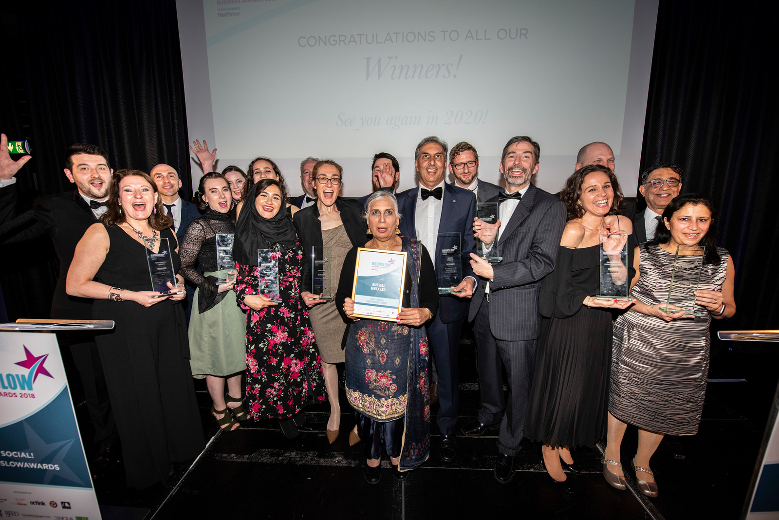 Winners of the Hounslow Business Awards 2018
