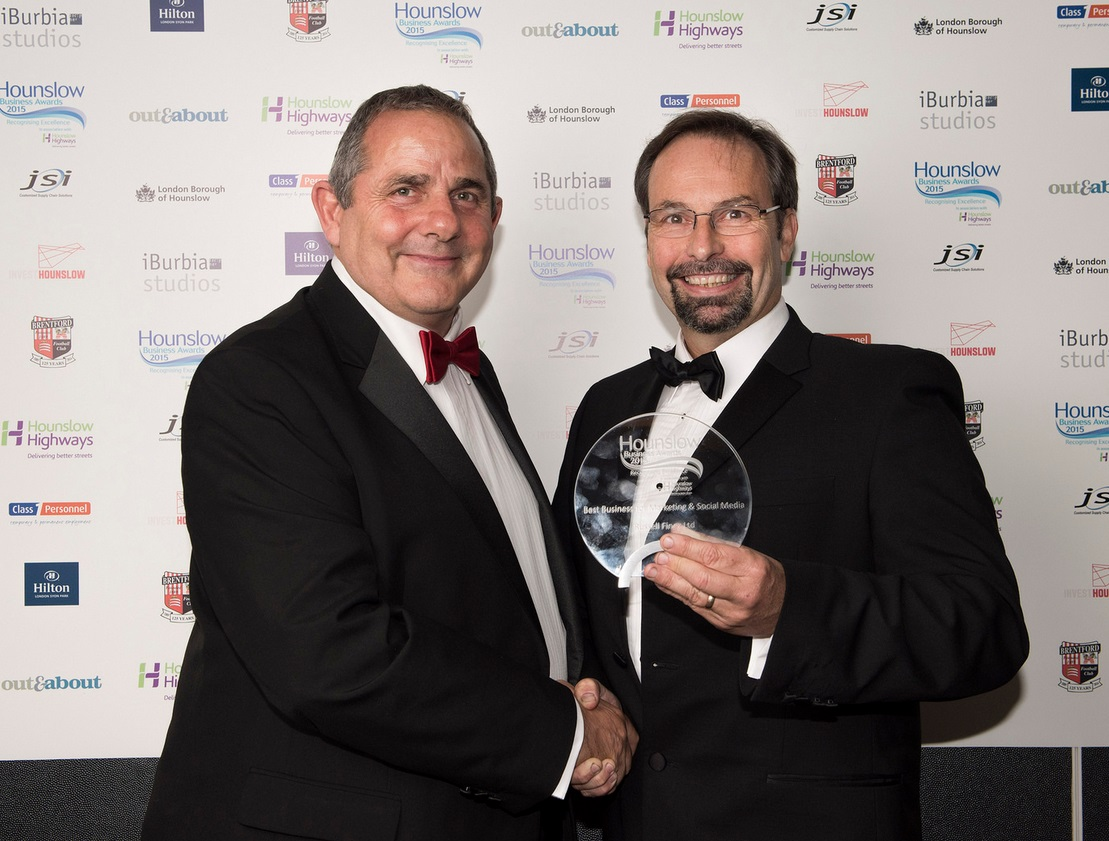 Russell Finex winners at Hounslow Business Awards 2015