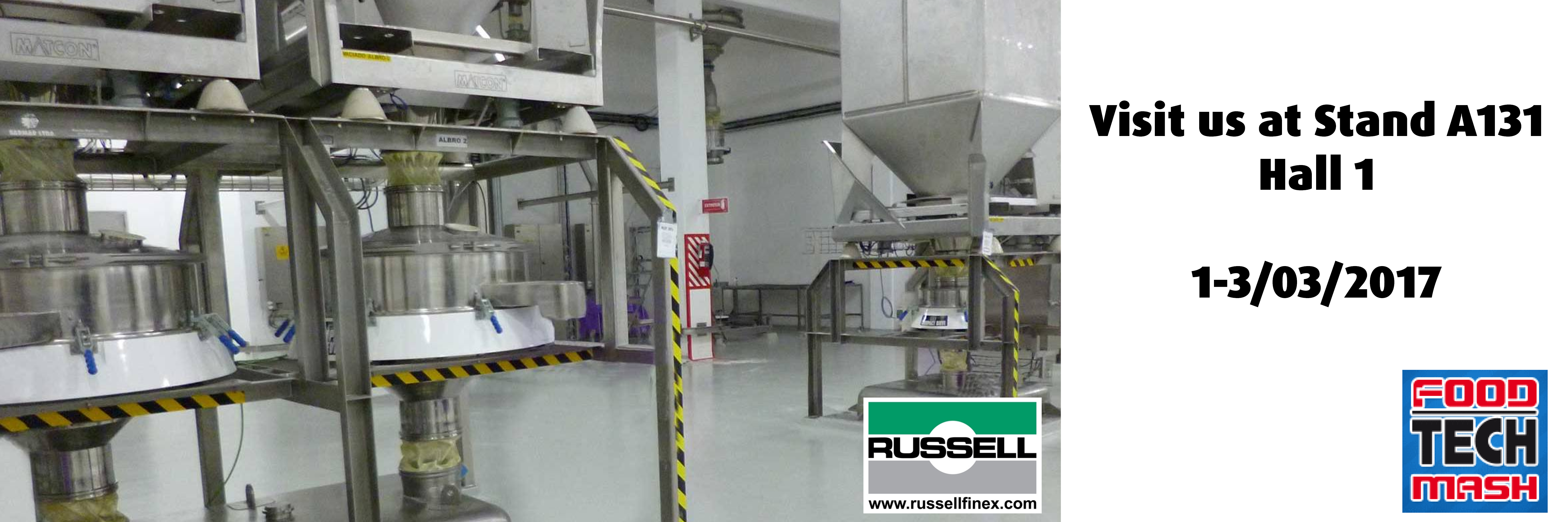 vibratory sieve Russell Compact sieve at FoodTechMash
