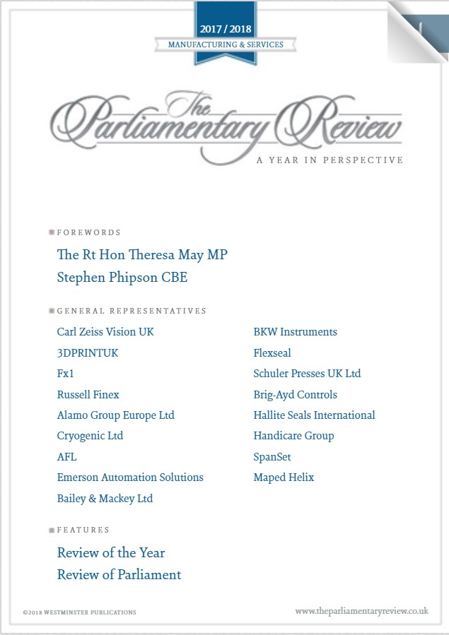 Parliamentary Review Manufacturing & Services 2017/2018