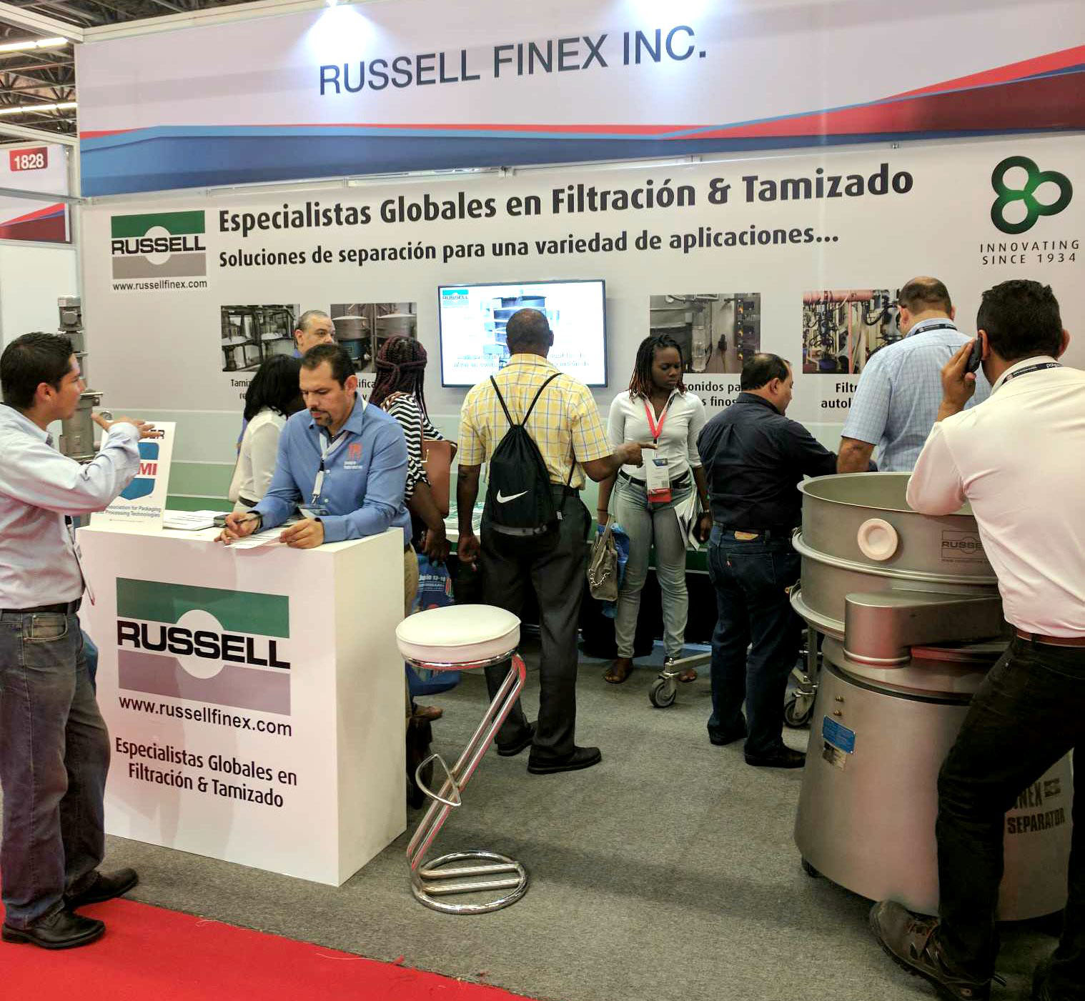 Vibratory screening machines at Expo Pack Mexico