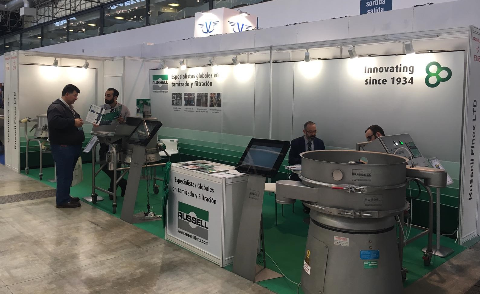 Russell Finex showcase machines at solids and bulk materials exhibition