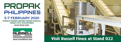 Russell Finex separation equipment at ProPak Philippines 2020.