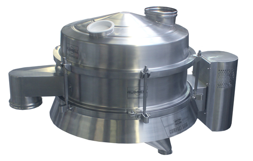Compact double-deck hygiene sieve for pharmaceutical pellets