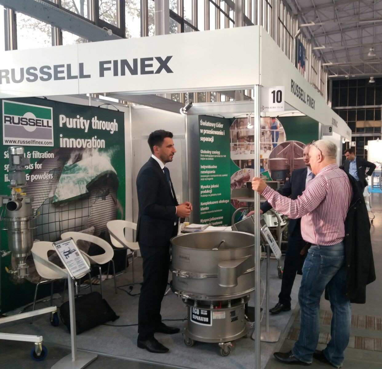Russell Finex's high performance sieving machines were presented at POLAGRA-TECH