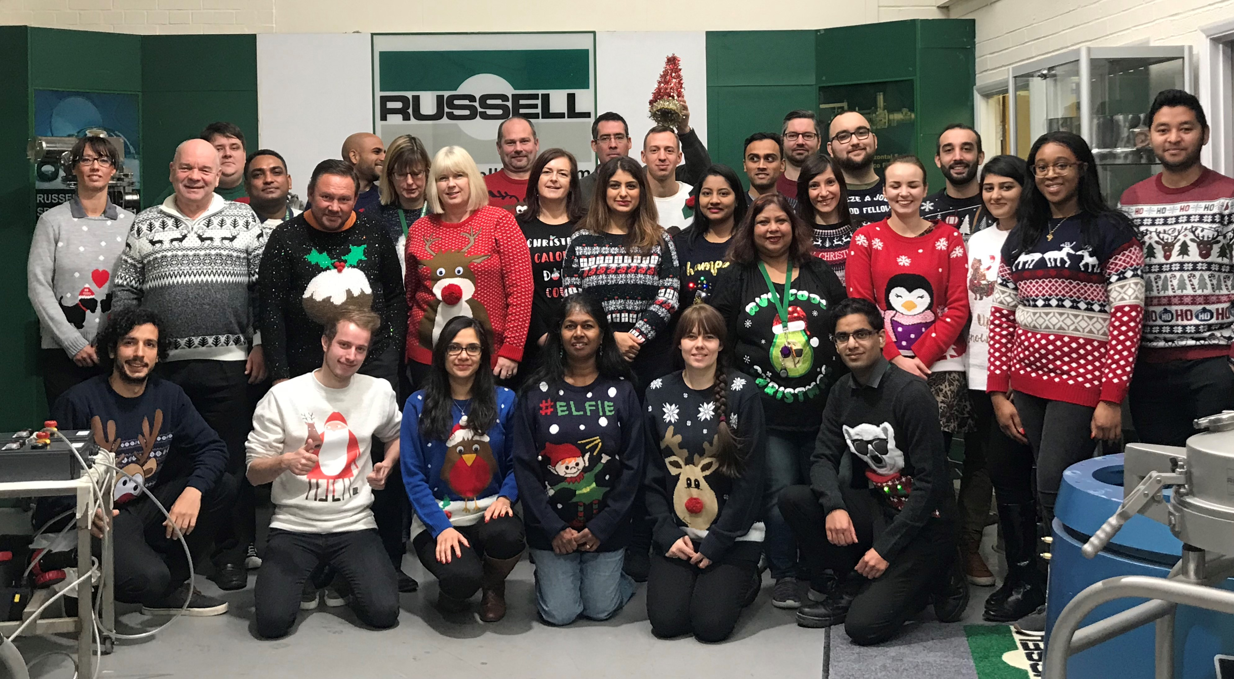 Russell Finex Christmas Jumper Day 2018
