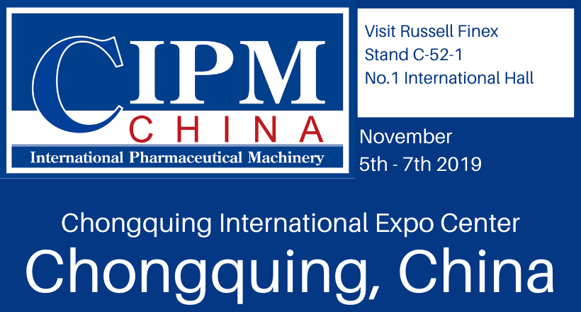 Russell Finex exhibiting at CIPM Autumn 2019 – Stand C-52-1, No.1 International Hall