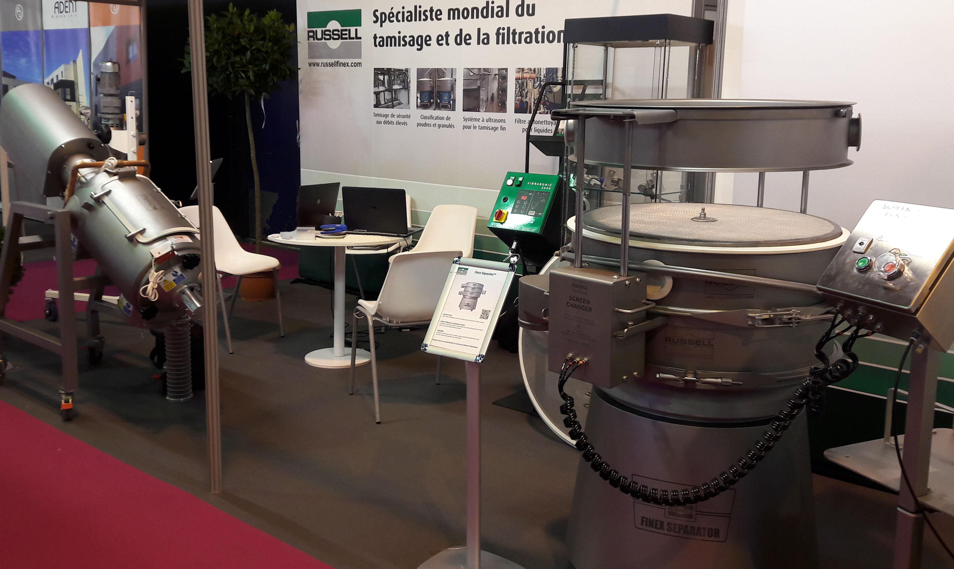 Russell Finex food processing equipment at CFIA 2017