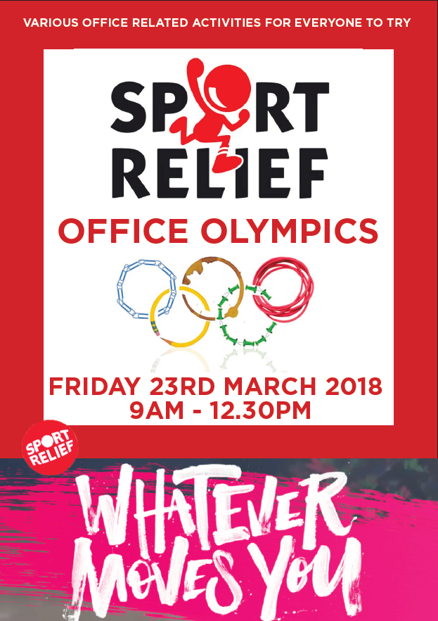 Sport Relief Office Olympics 2018