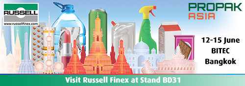 Russell Finex exhibits at ProPak Thailand 2019.