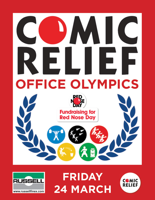 Russell Finex Comic Relief 2017 Charity CSR Office Olympics