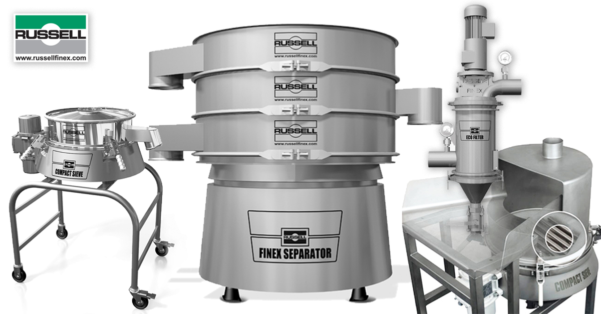 Sanitary separation equipment for food and beverages