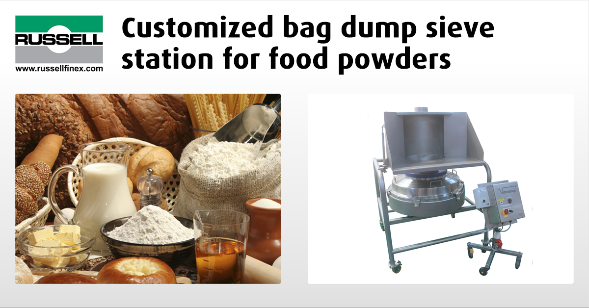 Bag Dumping Sieve Station Food Powders Russell Finex
