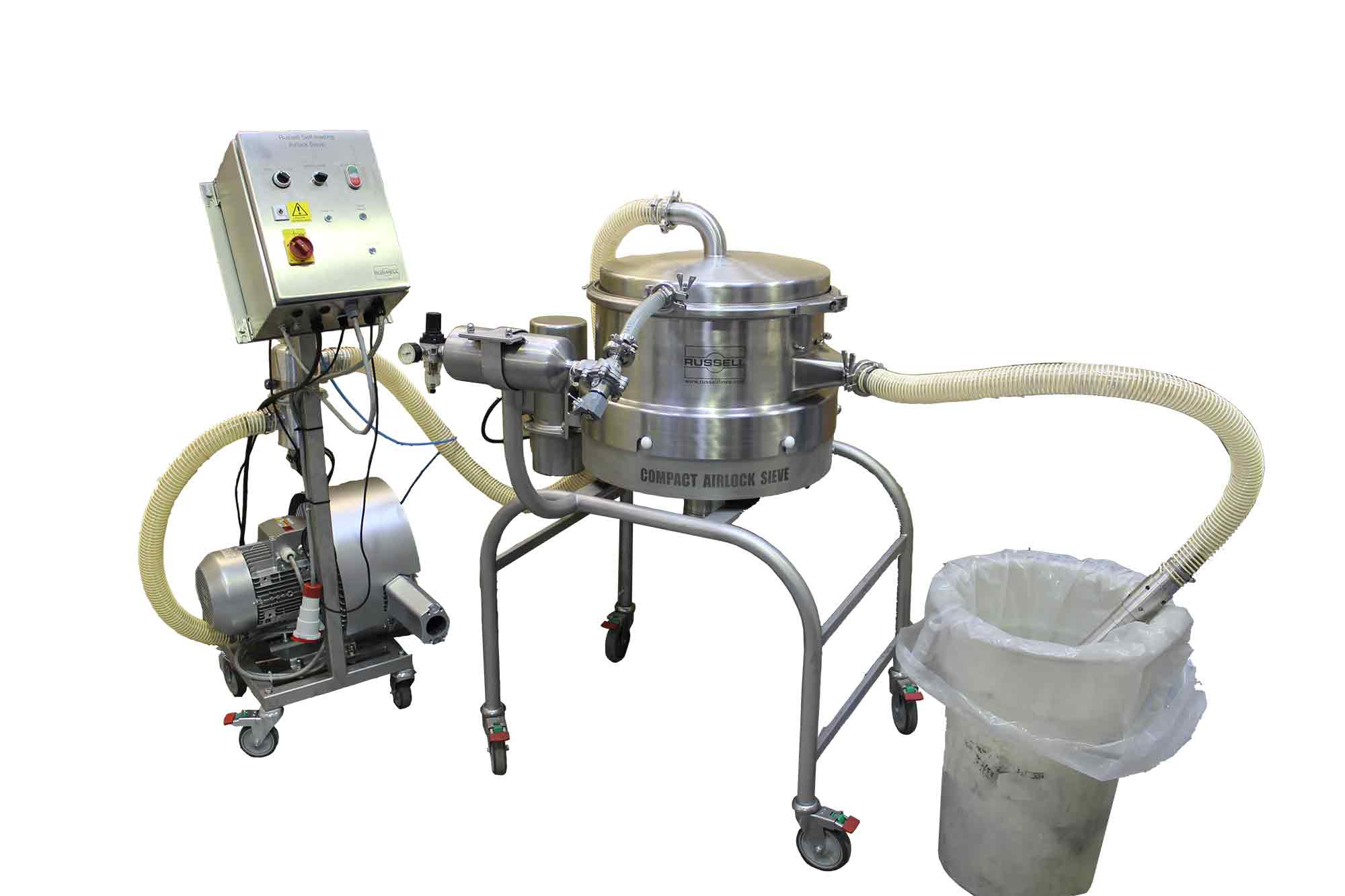 Pneumatic screening with Self loading sieve