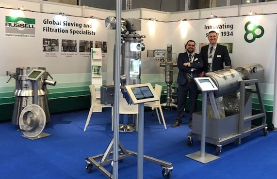 Russell Finex stand op Pumps & Valves 2018