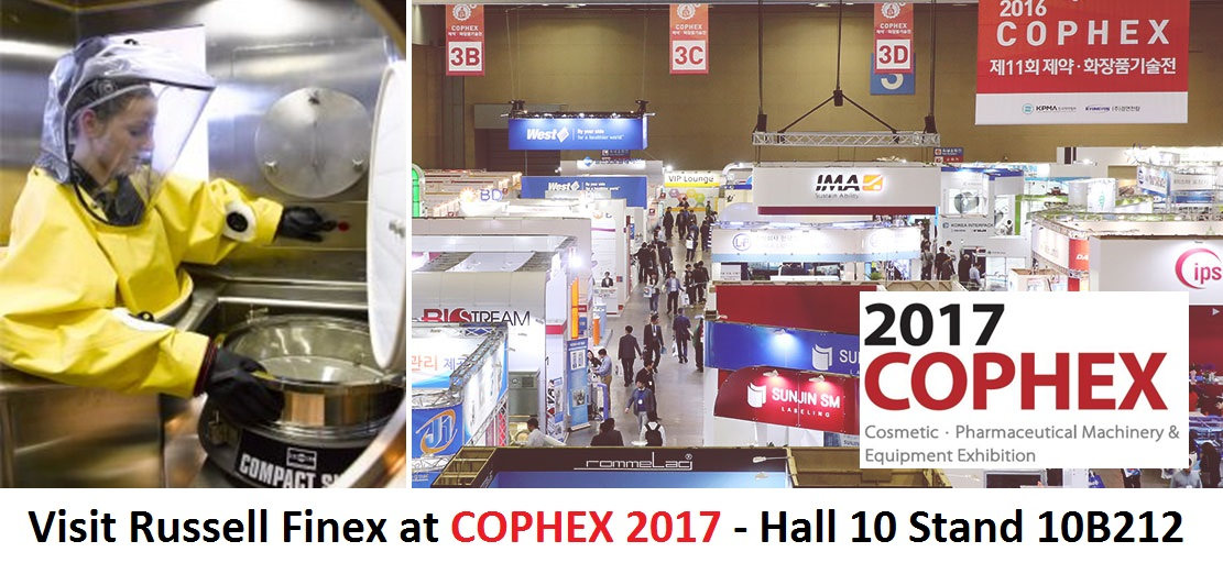 COPHEX 2017 Industrial Sanitary Sieve Russell Finex