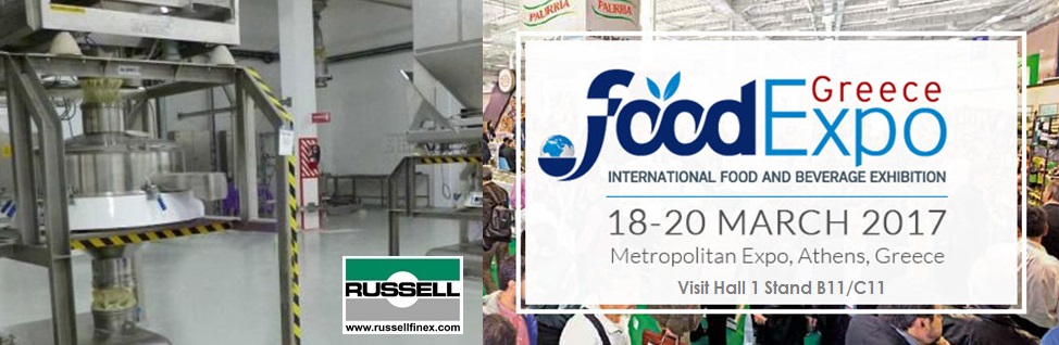 Food Expo 2017 Russell Finex Industrial Sieving Equipment for Food