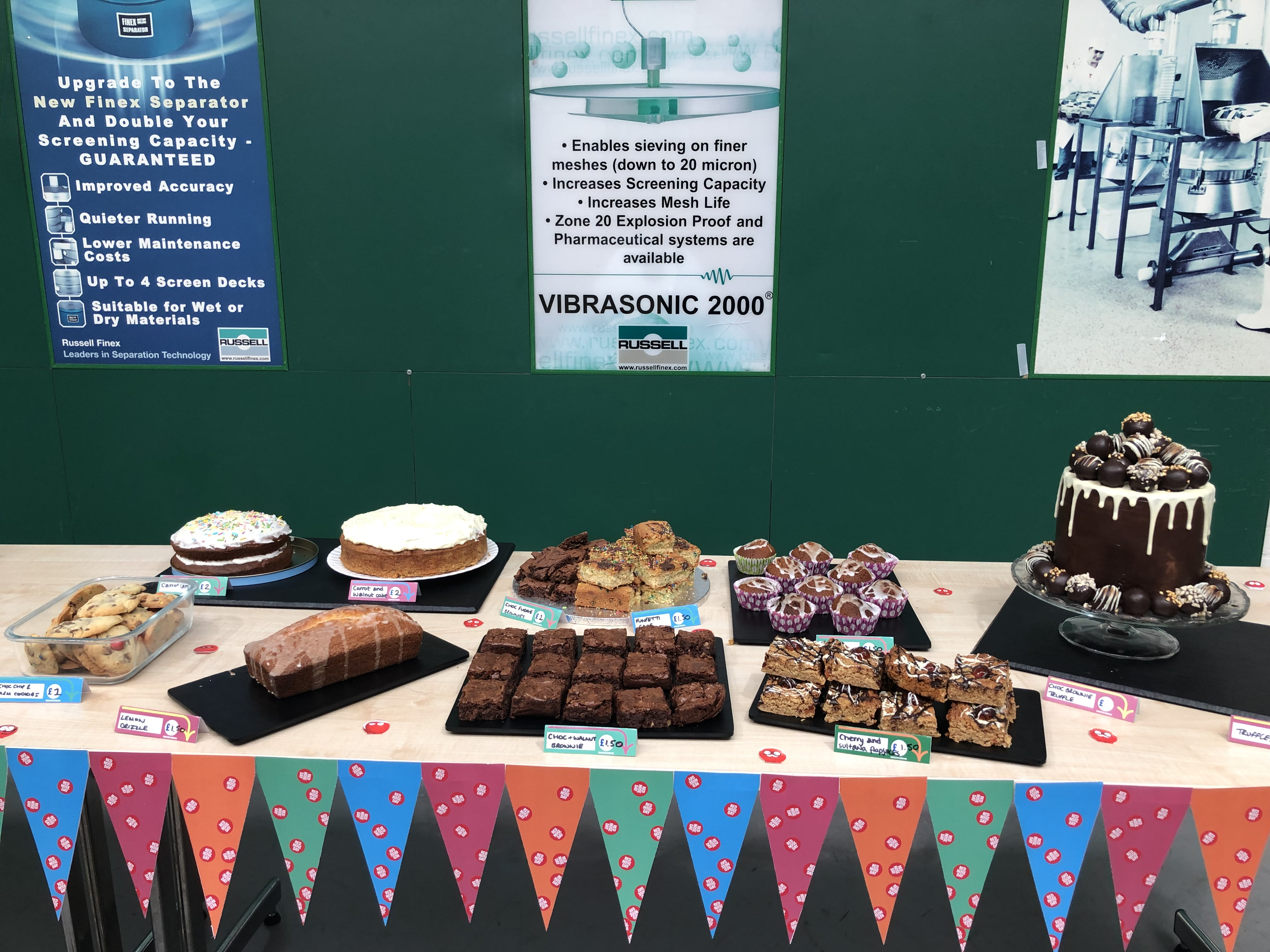 Russell Finex's Charity Bake Sale 2019