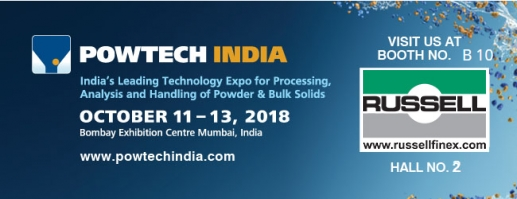 Industrial sieving equipment at Powtech India 2018